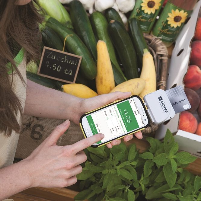 Farmers Market using Mobile payment device