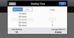 Seating Time Screenshot